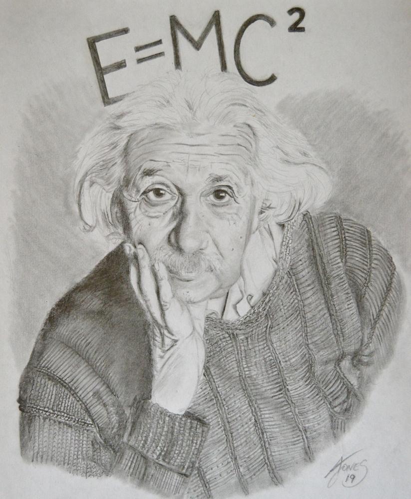 Albert Einstein by aljentart